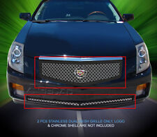 Fedar Fits 2003-2007 Cadillac CTS Polished Dual Weave Mesh Grille Combo Insert