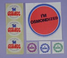 The Osmonds Original 1970s European Fan Club Unused Stickers Lot 1