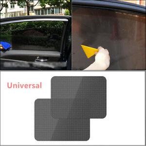 Truck Side Window Net Sun Shade Shied Solar Mesh Film Sticker UV Protector 2X
