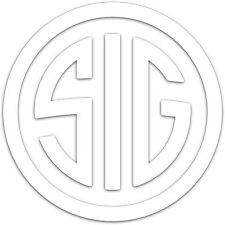 "Sig Sauer Sigarms Circle Logo 2"" Decal Sticker firearm pistol guns rifles (2x)"