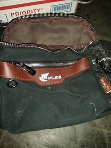 Milide Black Canvas Jogging / Hiking Waist Bag Fanny Pack New with Tag