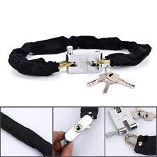 Heavy Duty High Secuirty Motorcycle Bicycle Bike Chain Padlock Lock*Black colorE