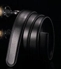 5X 3X Fashion Men' Leather automatic Strap Belt Without Buckle Waist Straps
