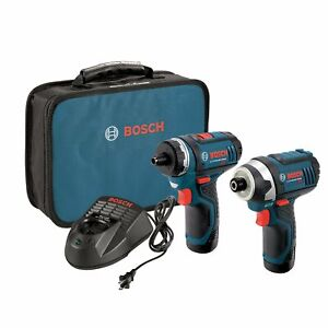 Bosch CLPK27-120 12-Volt Max Lithium-Ion Drill and Impact Driver Combo Kit