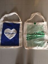 2 x NEW Sportsgirl Casual Tote Material shopping carry Bag FREE POST