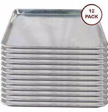 12 pack Half Size 13 x 18 Commercial Aluminum Sheet Baking Cookie Sheet Pans