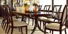 Thomasville Furniture Studio 455 Dark Walnut Double Pedestal Dining Table/Chairs