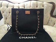 NWT 100% AUTHENTIC CHANEL BLACK CAVIAR LEATHER SHOULDER PURSE