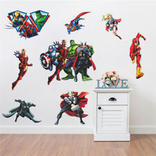 Justice League Wall Stickers Kids Nursery Boys Decor Vinyl Decal Art Mural Gift