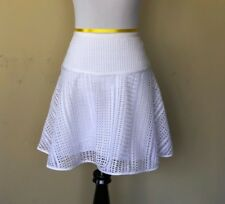 Armani Exchange Women's White Flounce Crochet Mini Skirt Size 6. **NWT**