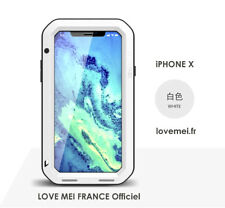 Coque Antichoc blindée iPHONE X - LOVE MEI FRANCE - étanche - Blanc