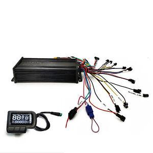 ebike Controller 36V 48V 52V 1500W Dual Mode Sinewave LCD Display Support 3-mode