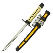 LETTER OPENER | Yellow Mini Stainless Steel Blade Japanese Samurai Katana Sword