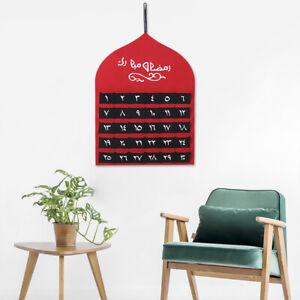 2021 New Style Eid Mubarak 30 Days Children's Gift Countdown Calendar Tape Felt