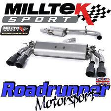 """Milltek Audi S3 8v 3-Door Exhaust 3"""" Cat Back Resonated Black GT100 SSXAU397 EC"""