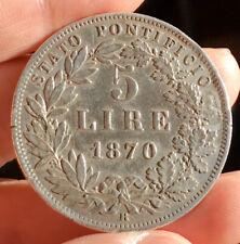 5 Lire 1870 Stato Pontificio