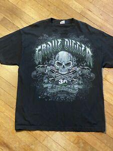 Grave Digger Monster Jam Tshirt 30th Anniversary 2012 Black Size XL