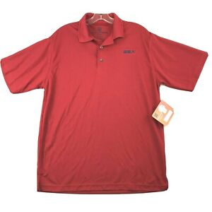 Boy Scout of America Mens Trek Textured Polo Shirt Size M Red NWT UPF 40+
