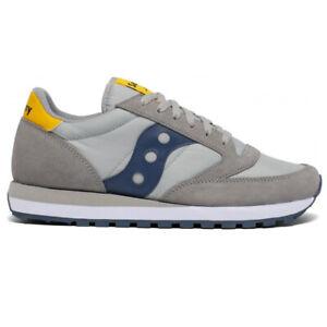 Saucony Jazz Uomo scarpe Original sneaker sportive estive casual Grigio Blu 42