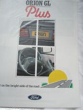 Ford Orion GL Plus brochure Jul 1988