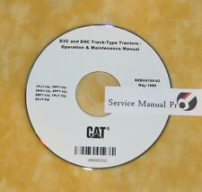 SEBU6155 CAT Caterpillar D3C D4C Tractor Dozer Operation Maintenance Manual CD