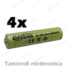 4x Pile batterie ricaricabile 1,2V 600mah 1Ah Ni-Mh mouse cordless universale