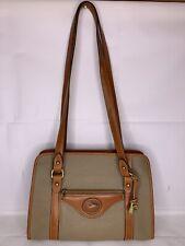 Dooney & Bourke Beige Brown Purse Handbag Tote Bag Pocketbook