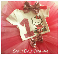 Hello Kitty Birthday Tutu Outfit Party Dress Set 1st Birthday outfit Tutu set