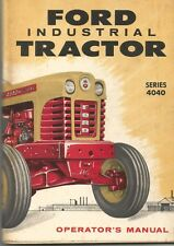 Ford 4040 Industrial Tractor Operator's Manual