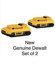 Two (2) New Dewalt 20V Max* 2.0 Ah Lith-Ion Batteries lot Dcb203 Man Gift 2019