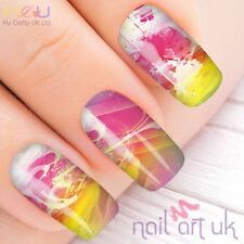 Vivid Pink Water Decal Nail Art Stickers, Decals, Tattoos