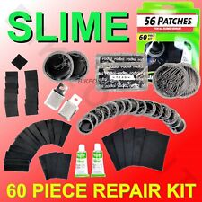 SLIME 60 Piece Tube Tire All Rubber Repairs Patch Kit 2033 Scuffers & Cement