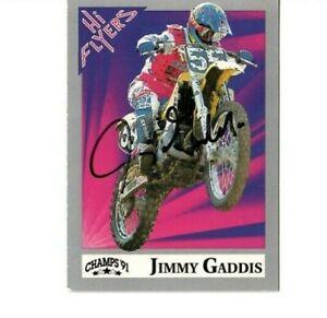 Champs Hi Flyer 1991 Jimmy Gaddis Autographed Suzuki RM125 Motocross Supercross