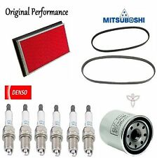 Tune UP KIT Air Oil Filters Plugs Belt for Nissan Maxima V6; 3.5L 2004-2007