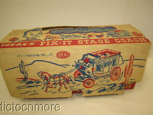 VINTAGE IDEAL FIX-IT STAGECOACH WESTERN TOY & BOX #4801 TOY NEVER PLAYED WITH