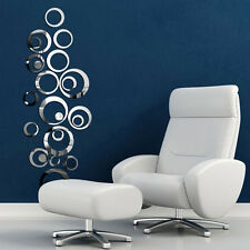 Circles Mirror Style Removable Decal Vinyl Art Wall Sticker Home Decor New