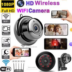 WLAN Funk Mini Überwachungskamera HD 1080P WIFI IP Kamera Innen/Außen Haus DHL