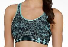 New Under Armour Heatgear Womens Mid printed Bra top UK 4-6 gym fitness running