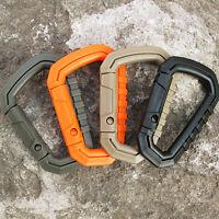 5pcs D Shape 90kg/200LB Buckle Snap Clip POM Plastic Climbing Carabiner Hanging