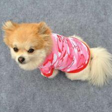 Pink Camouflage Dog Cat Pet Puppy Shirt Vest T-Shirt Coat Dress Costume Outfit