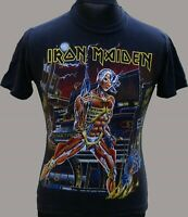 Iron Maiden Shirt Vintage French  Official Somewhere in Time 1986