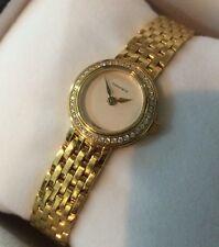 Tiffany and Co 18K Yellow Gold Watch with Diamond Bezel HEAVY