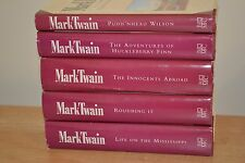 Lot of 5 Mark Twain 1992 Book of the Month Club Edition Hardcover Books