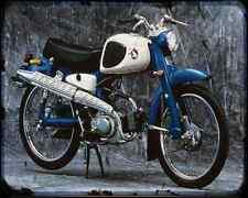 Honda C110 Super Sport Cub 61 A4 Imprimé Photo moto Vintage Aged