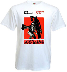 Magnum Force v3 T shirt Clint Eastwood 100% cotton white all sizes S-5XL