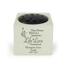 Personalised Life & Love Memorial Vase, Grave Vase, Funeral Vases