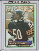 Mike Singletary Chicago Bears 1983 Topps Rookie Football Card