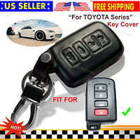 Genuine Leather Case Entry Protector Fob Cover for Toyota HIGHLANDER Smart Key