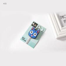 LED Light PVC Key Ring Cap Head Cover Decor Keychain Case Shell Animals Shape