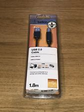 Belkin USB 2.0 Cable USBA-USBB in Charcoal 1.8m Brand New Sealed Printer Cable